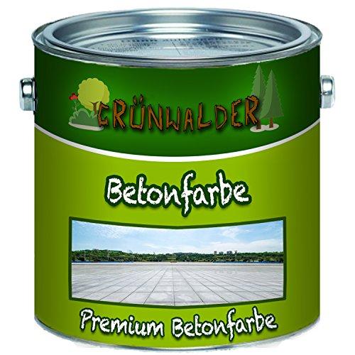 Grünwalder Betonfarbe Bodenfarbe premium Fassadenfarbehoch-elastische und hochlichtecht für den Innen- und Außenbereich (1 L, Anthrazitgrau RAL 7016)
