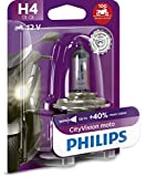Philips 12342CTVBW City Vision Moto H4 Motorrad-Scheinwerferlampe, 1er Blister