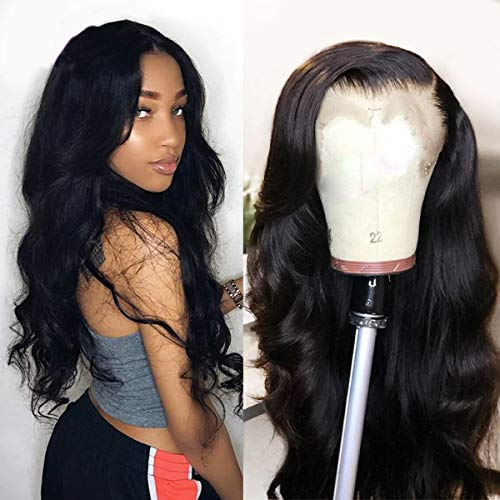 Beauhair Lace Front Wigs Human Hair Body Wave Lace Front Human Hair Wigs Pre Plucked 4X4 Closure Lace Front Wigs with Baby Hairs Natural Color(14inch)