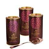 Godiva Chocolatier Assorted Dark and Milk Hot Cocoa Powder Canister Variety, Set of 3, 14.5 Ounce