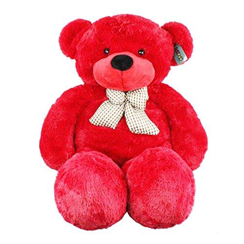 Joyfay Marca Oso de Peluche Gigante de la muñeca de Juguete Suave de la Felpa de Juguete Oso Peluche Gigante Peluches Gigantes Osos de Peluche Gigantes(100 cm, Rojo)