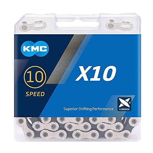 KMC Unisex-Kette X10, 10 Gänge, Silber/Schwarz, 122 Glieder
