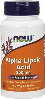 Now Supplements, Alpha Lipoic Acid 250 mg, 60 Veg Capsules