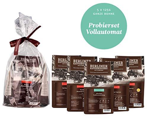 Berliner Kaffeerösterei Probierset 5 Sorten á 125g für Vollautomaten