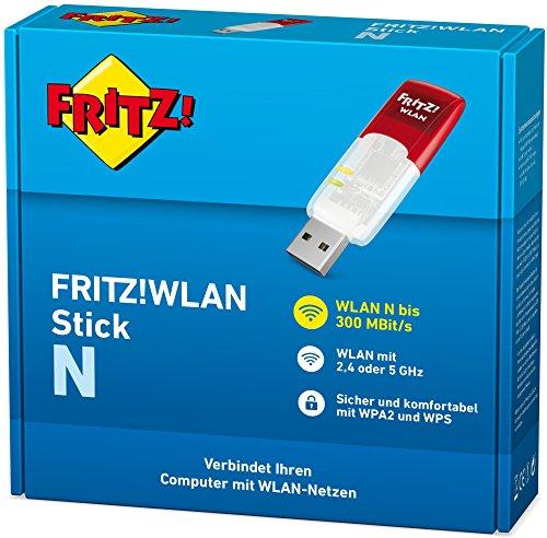 AVM FRITZ!WLAN Stick N (300 Mbit/s, WPA2/WPA, 9g, deutschsprachige Version) rot/weiß