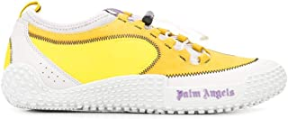 Luxury Fashion | Palm Angels Men PMIA037S207810016000 Yellow Leather Sneakers | Spring-summer 20