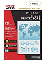 11 x 17 Sheet Protectors, Portrait View,25 Pack, Top Loading, Protect, Store and Display 11X17 Paper, Photographs, Prints, and Documents [並行輸入品]