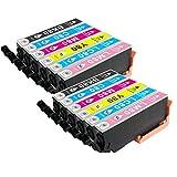 むさしのメディア EPSON(エプソン) IC6CL80Lx2 (6色セットx2) 互換インクカートリッジ 増量版 ICチップ付き 残量表示対応