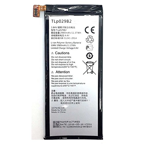 Todobarato24h Bateria Alcatel Vodafone Smart Ultra 7 One Touch Pop 4S, Pop 4S LTE, Shine Plus, OT-5095, TLp029B2 TLp029B1 (2960mAh)