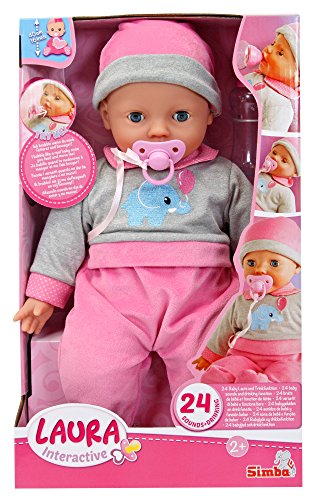 Simba 105140066 Laura Interactiv Puppe, Mehrfarbig