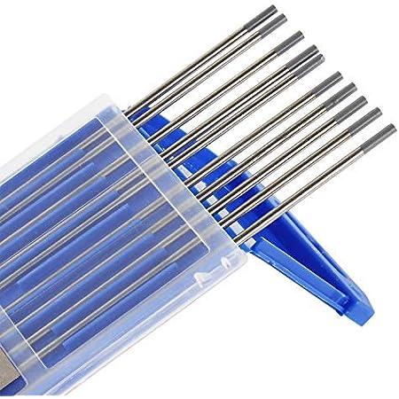 TEN-HIGH WIG Wolfram Elektrode Mischverpackung 1,0 x 150 mm Wolframnadeln f/ür WIG Schwei/ßen ingesamt 10 St/ück