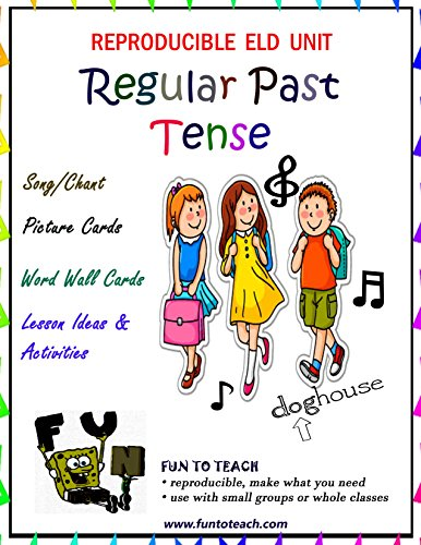 Regular Past Tense Verbs Song and Picture Cards (English Edition)