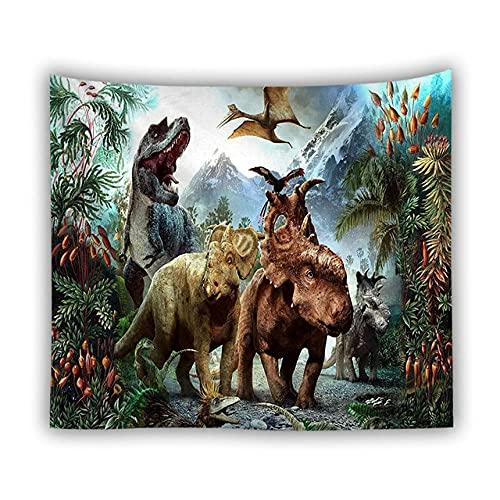 Jurassic Park, tapiz de dinosaurio, alfombra para colgar en la pared, tapiz de animales para decoración de dormitorio infantil, accesorios de decoración del hogar, 150x200 cm (59x79 pulgadas)