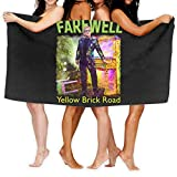 N\ A Toalla de playa súper suave de Elton-John Farewell amarillo ladrillo camino patrón toalla suave cuidado de la piel baño toalla de viaje (80 x 130 cm)