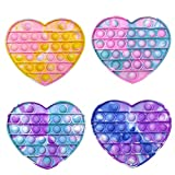 4Pcs Pop Fidget Sensory Toys, Pop Push Bubble Toy Autism Stress Reliever and Anti-Anxiety Tools for Kids Adults (POP7)
