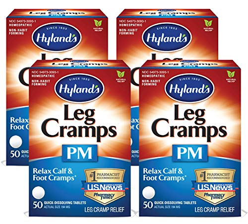 Hyland's Leg Cramps PM - 50 Tablets ea (Pack of 4)