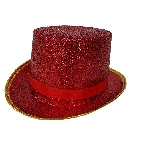 Dress Up America Sombrero de Copa Rojo Adulto