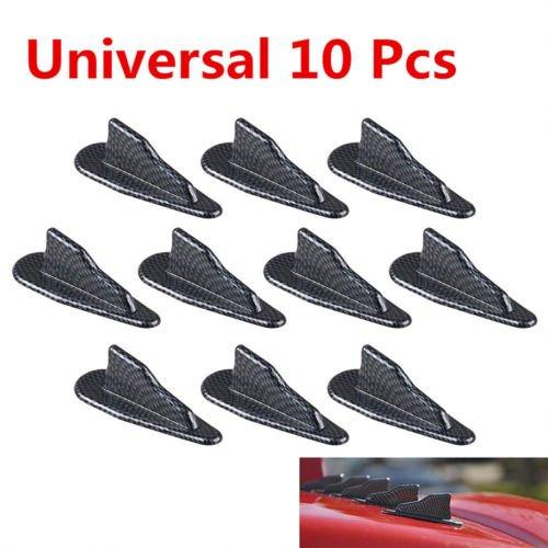 Dailyextreme Universal Shark Fin Wing EVO Style Roof Spoiler Kit Vortex Generator EVO Style Boot Spoiler