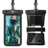 Universal Waterproof Case [Floating] Tekcoo IPX8 Phone Pouch Dry Bag Compatible iPhone 13 12 11 Pro Max/Xs/XR/X/SE, Galaxy Note 20/S21 Ultra/S20+/A12/A11/A32/A42/A52/A72/A21/A01 & Reflective Armband