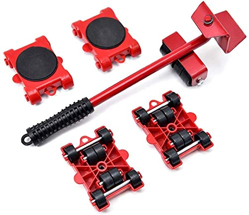 Jilibaba Muebles Mover Tool Lifter Heavy Stuffs Moving Roller Bar Set