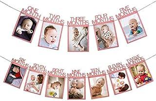 Sri SS Retail Birthday Baby Photo Banner for Newborn to 12 Months, Monthly Milestone Photograph Bunting Garland, First Bir...