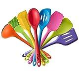 TTLIFE 8pcs colorato Spatola in silicone utensili da cucina Set...
