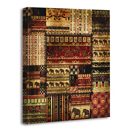 Shenywell Canvas Print Picture Wall Art 12x16 inches Patchwork African...