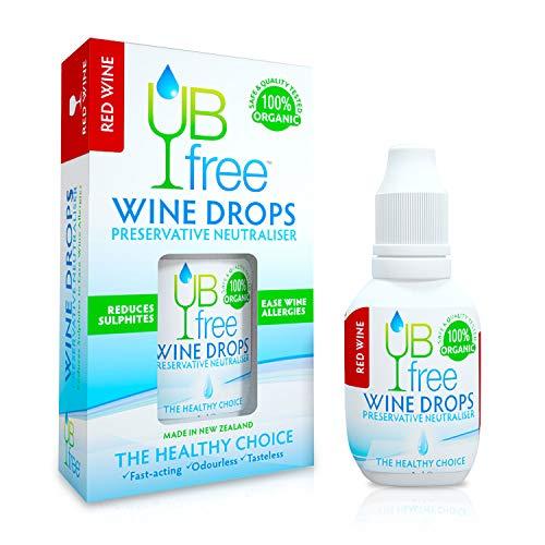 UBfree Weinsulfitentferner – genießen Sie Rotwein ohne Kopfschmerzen und Allergien eine organische diskrete Alternative zu einem Weinstab oder Weinfilter hergestellt in Neuseeland (1 Pack)