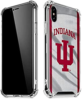 Skinit Clear Phone Case for iPhone X/XS - Officially Licensed Indiana University Indiana University Design