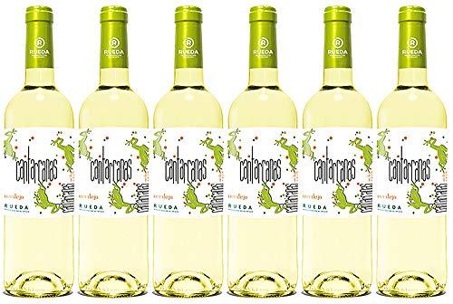 Cantarranas Verdejo, Vino Blanco D. O Rueda - 6 Botellas de 750 ml - (Total: 4.5 Lt) BODEGA CUATRO RAYAS ✅