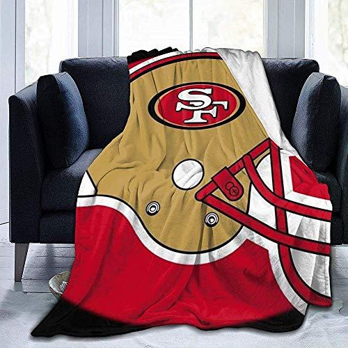 Eileen Powell San Francisco 49ers-Ultra-Soft Micro Fleece Decke für Bett Auto Camp Couch gemütliche Plüsch Decke 50 'x 40'