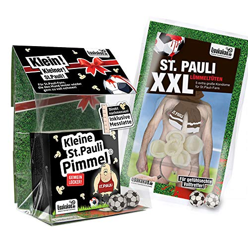 St. Pauli Boxershorts ist jetzt KLEINE PIMMEL Set 1: KLEINE Schadenfreude by Ligakakao.de schwarz-weiß männer Shorts Unterhosen
