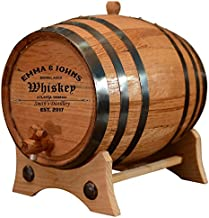 Personalized - Customized American White Oak Aging Barrel - Barrel Aged (20 Liters, Black Hoops)