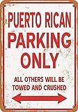 Generies Puerto Rico Parking Only Tin Sign retro nostálgico estilo industrial bar restaurante fondo pared decoración personalidad pared decoración