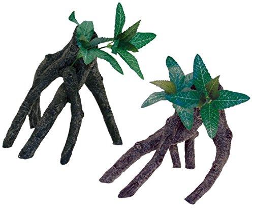 Wave Beauty Mangrove avec Feuilles Objet d'Ornement pour Aquariophilie 32 x 21 x 31 cm Taille S/M