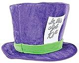 Beistle Soft Plush Fabric Mad Hatter Costume Accessories Unisex Hat Headwear, Purple/Green