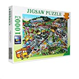 Jigsaw Puzzles 1000 Pieces for Adults Children Puzzle Game Cartoon City Traffic Interesting Toys Landscape Puzzles Work from Home Entertainment