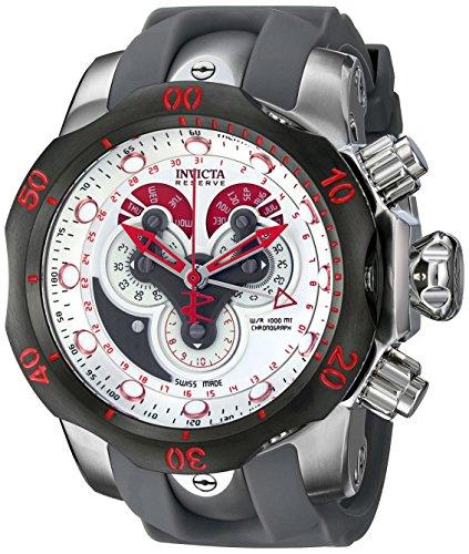 Invicta 14467 Reserve Venom Reloj para Hombre acero inoxidable Cuarzo Esfera plata