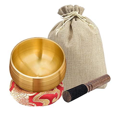Cuenco Tibetano Nepal,Cuenco Tibetano 7 Metales Hecho a Mano,Juego De Cuencos Tibetanos,Cuenco Tibet