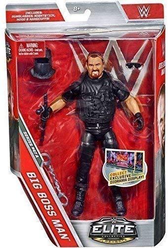 Sconosciuto WWE Serie Elite 47 Action Figure - The Big Boss Man W/Attitude Epoca Accessori Nero