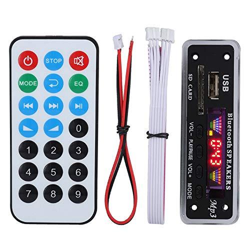 Exliy Placa de decodificación de Altavoz, Pantalla de 4 Colores SDM01BT + U-DX Bluetooth 5.0 MP3 FM Ape Módulo de Placa de decodificación FLAC, Compatible con MP3/WMA/WAV/FLAC/APE(Negro)