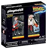 PLAYMOBIL Regreso Dos Figuras Back to The Future Marty Mcfly y Dr. Emmett Brown (70459), Multicolor,...