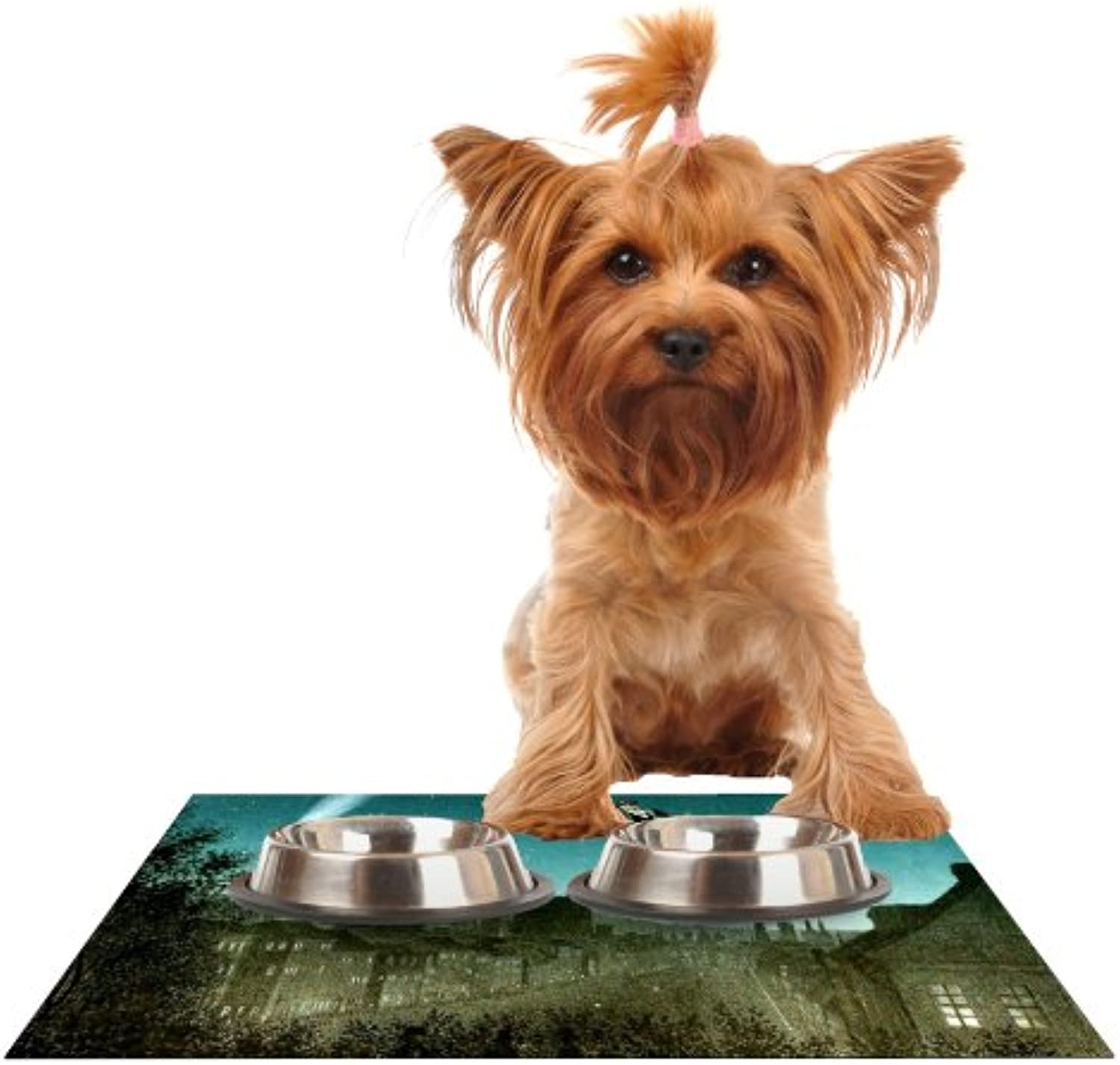 Kess InHouse Suzanne Carter The Departure  Feeding Mat for Pet Bowl, 18 by 13Inch