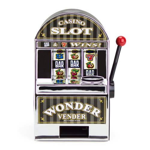 Brybelly Bars and Sevens Slot Machine Bank with Spinning Reels