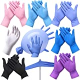 MSLX 100PC Einweg-Transparenthandschuhe PVC-Handschuhe Latex in Lebensmittelqualität, Rot, M.