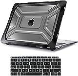 MOSISO MacBook Air 13 inch Case 2019 2018 Release A1932, Heavy Duty Plastic Hard Shell with TPU Bumper & Keyboard Cover Only Compatible with MacBook Air 13 inch with Retina Display, Black