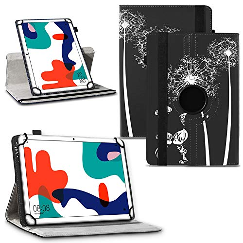 NAUC Schutzhülle kompatibel für Huawei MediaPad MatePad Tablet Serie 10 10.1 Zoll Tasche Hülle Hülle 360° Drehbar, Tablet:Huawei Mediapad T1 10.1