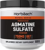 Agmatine Sulfate Powder | 500 Grams | 667 Servings | Huge Size & Unflavored | Pre Workout Supplement | by Horbaach