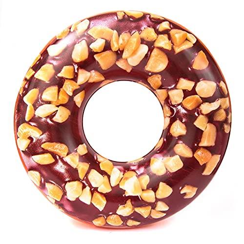 Gcxzb Schwimmreifen Schwimmring 103 cm aufblasbare Donut schwimmring Riese Pool Float Spielzeug Kreis Strand Meer wasserparty aufblasbare matratze Wasser Erwachsener (Color : Default, Size : A)