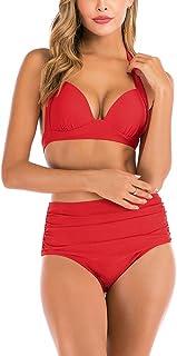 Rosiika Bikini Swimsuits for Women High Waisted Swimwear Two Piece Bathing Suits Set